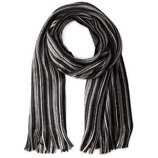 Hugo Boss Famino Black Striped Scarf