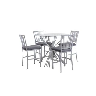 Delgado Silver Counter Height 5-piece Dining Set