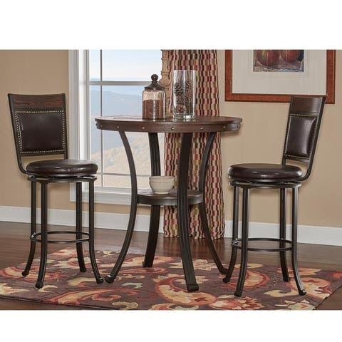 Franklin Pub Table and 2 Bar Stools Set