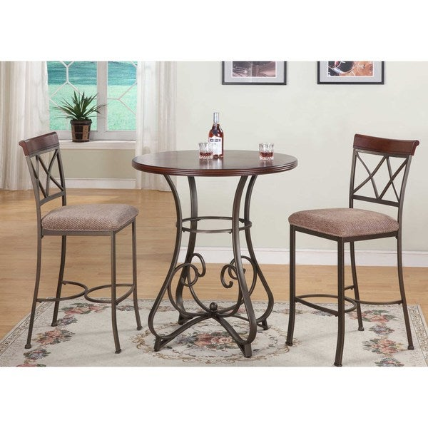 Hamilton 3 Piece Pub Height Dining Table Set