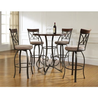 Hamilton Pub Table and 4 Bar Stools Set