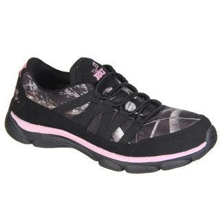 RealTree Camo Stella Women's Black/Pink Neoprene/Rubber Athletic Shoes|https://ak1.ostkcdn.com/images/products/13840858/P20484574.jpg?impolicy=medium