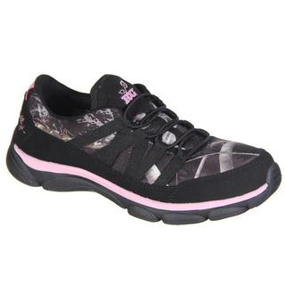 RealTree Camo Stella Women's Black/Pink Neoprene/Rubber Athletic Shoes