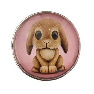 Bunny Rabbit Glass Knob Drawer Pulls (Pack of 6)