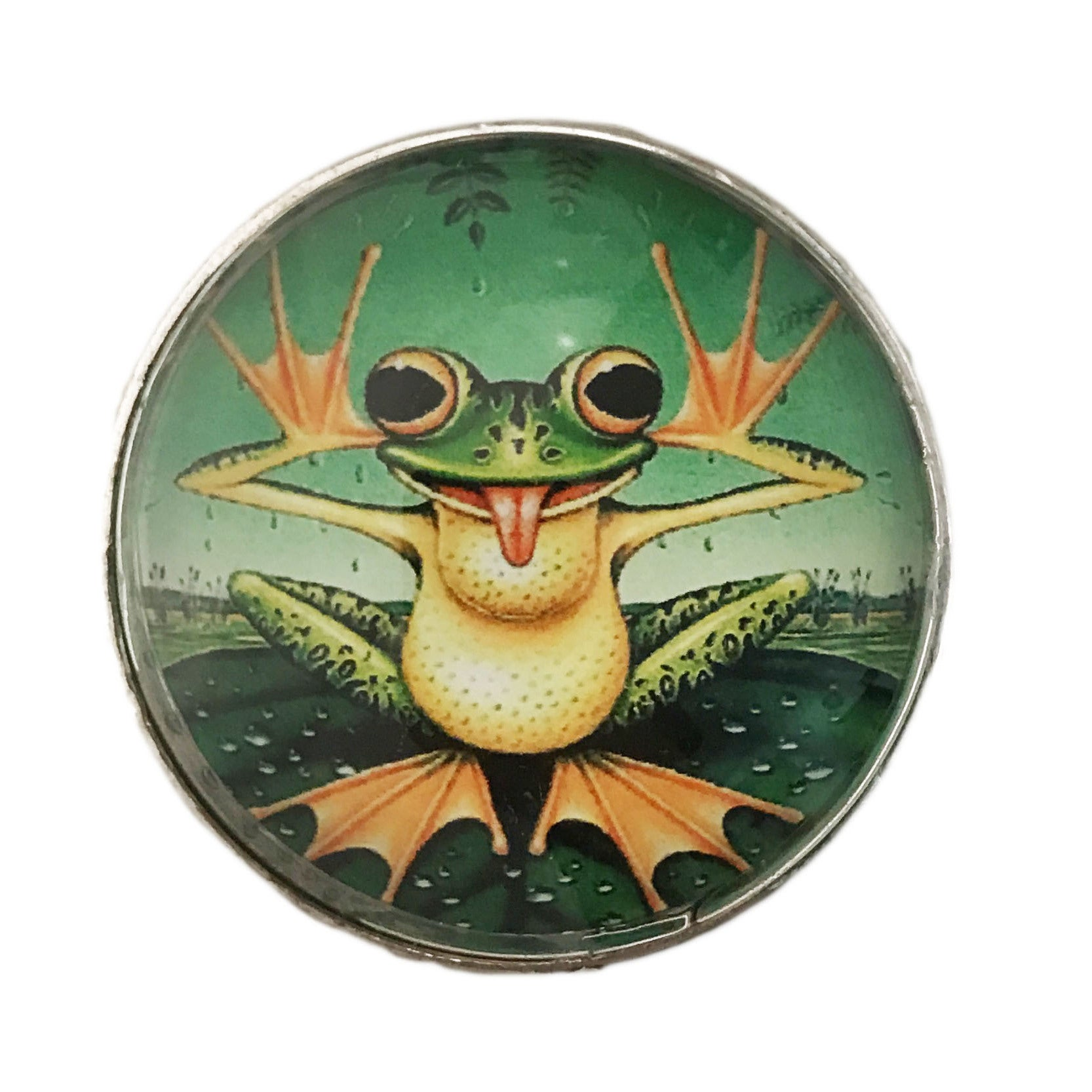 Restore Frog Decor Glass Knob Drawer Pulls (Pack of 6) (1...