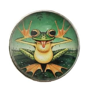 Frog Decor Glass Knob Drawer Pulls (Pack of 6)