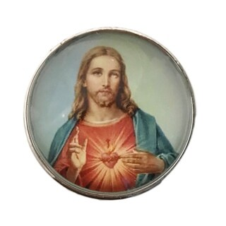 Jesus Religious Glass Knobs, Drawer Pulls - Pack of 6