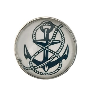 Boat Ship Anchor Glass Knob Drawer Pulls - Pack of 6