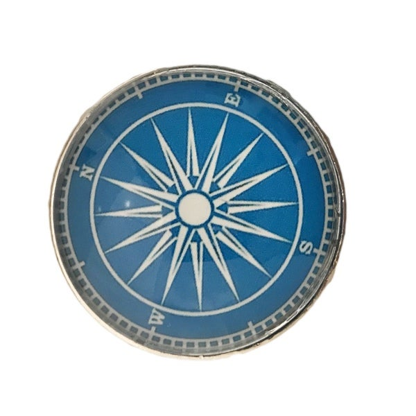 Nautical Compass Glass Knobs, Drawer Pulls - Pack of 6 - Free ...