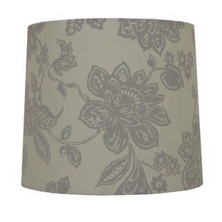 Decor Therapy Grey Cotton Floral Print Lamp Shade