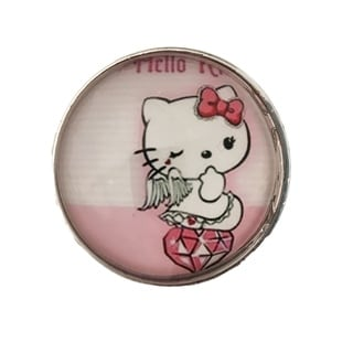 Pink Hello Kitty Glass Knobs, Drawer Pulls - Pack of 6