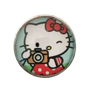 Hello Kitty Camera Glass Knobs, Drawer Pulls - Pack of 6