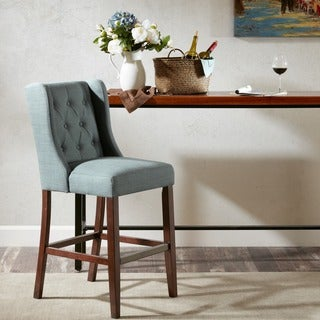 Madison Park Aida Blue 30-inch Bar Stool