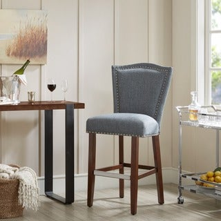 Madison Park Everitt Blue Multi 30-Inch Bar Stool