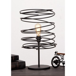 Urban Designs Coiled Iron Shade Table Lamp