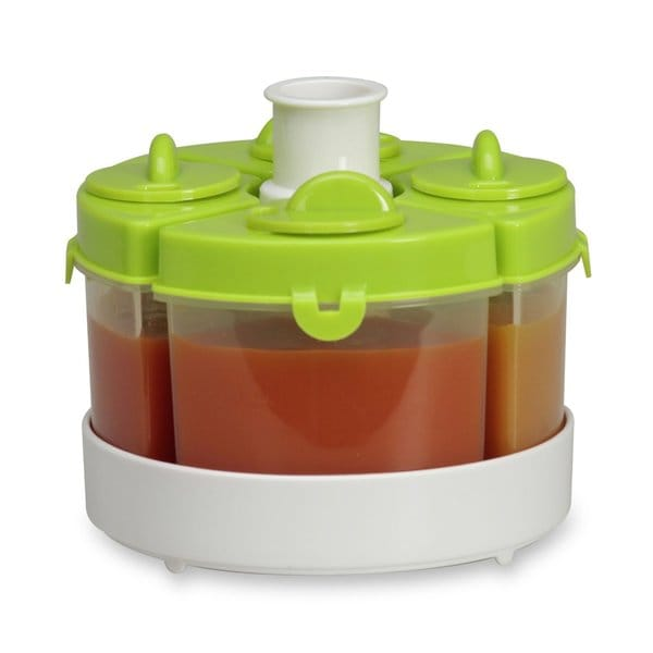 Shop Baby Brezza Quattro Green Food Storage System Free
