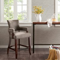"""Madison Park Parler Brown Arm 26-inch Counter Stool - 22.5""""w x 24.5""""d x 40.25""""h"""
