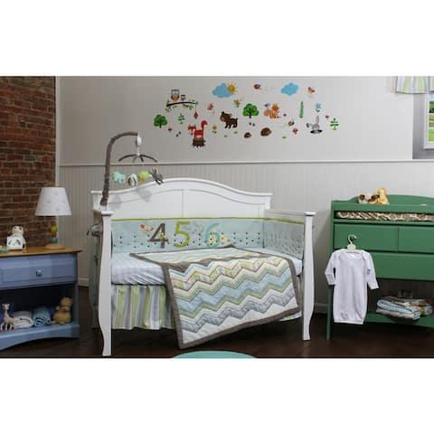 Nurture Imagination Zig Zag 123s 4-piece Nursery Bedding Set