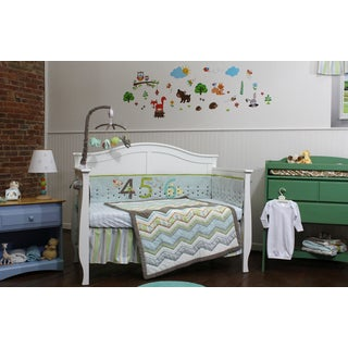 Nurture Imagination Zig Zag 123s 4-piece Nursery Bedding Set