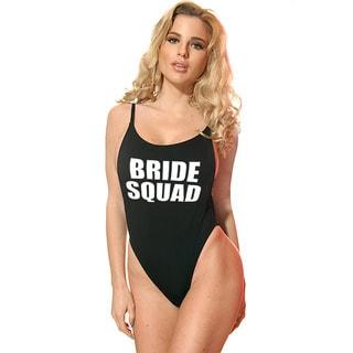 Dippin' Daisy's Women's Bride Squad Black High-cut Vintage 1-piece Swimsuit