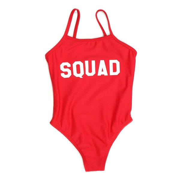 Famous Maker Girls Red Squad One Piece Swimsuit