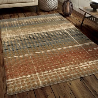 """Link to Carolina Weavers Soft Plush Collection Ricardo Beige Shag Area Rug (5'3 x 7'6) - 5'3"""" x 7'6"""" Similar Items in Rustic Rugs"""