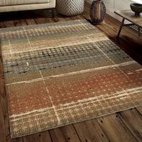 Carolina Weavers Soft Plush Collection Ricardo Beige Shag Area Rug - 5'3 x 7'6