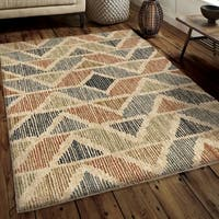 Carolina Weavers Soft Plush Collection Kalahari Multi Shag Area Rug (5'3 x 7'6) - ivory