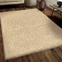 Carolina Weavers Soft Plush Collection Back to Basics Tan Shag Area Rug (7'10 x 10'10)