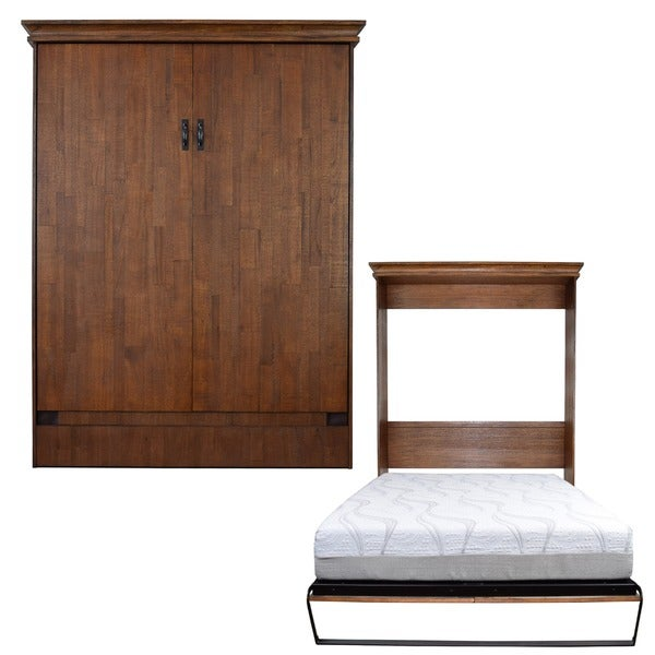 Saw Mill Reclaimed Brown Queen Size Murphy Bed