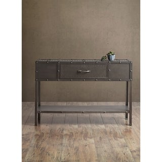 INK+IVY Benicia Industrial Grey Console Table