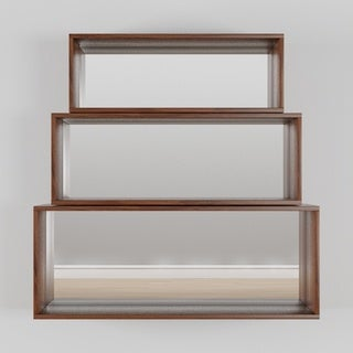 INK+IVY Clark Pecan Wall Shelf (Set of 3)