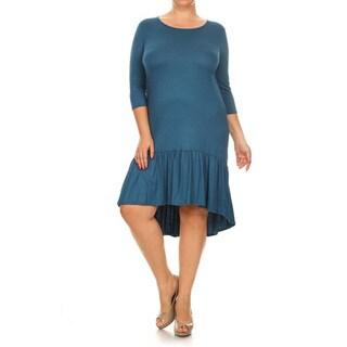 Women's Plus Size Ruffle Hem Dress