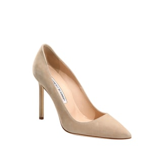 Manolo Blahnik BB Nude Suede Pumps