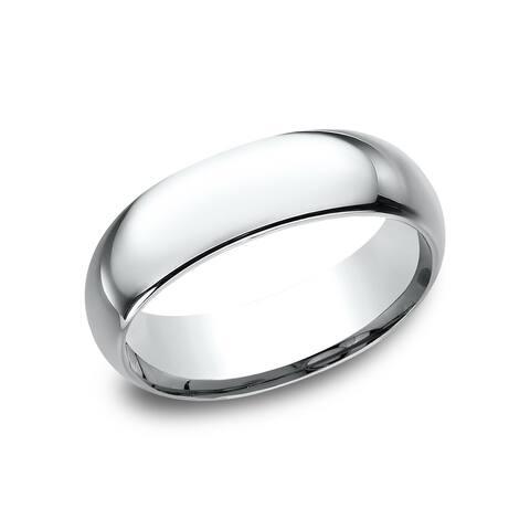 10k White Gold 7-millimeter Comfort-fit Wedding Band - 10K White Gold - 10K White Gold