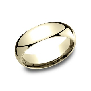 Ladies' 10k Yellow Gold 6 mm Comfort-fit Wedding Band