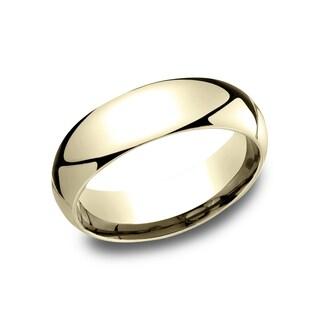 Ladies' 10k Yellow Gold 6 mm Comfort-fit Wedding Band - 10K Yellow Gold