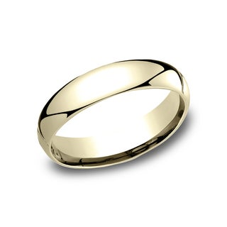 Men's 10k Yellow Gold 5 mm Comfort-fit Wedding Band