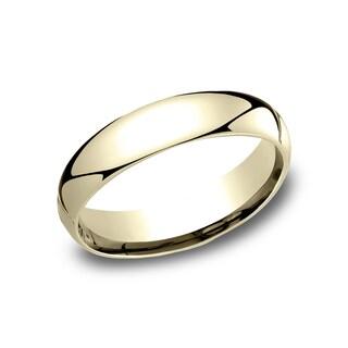 Men's 10k Yellow Gold 5 mm Comfort-fit Wedding Band - 10K Yellow Gold