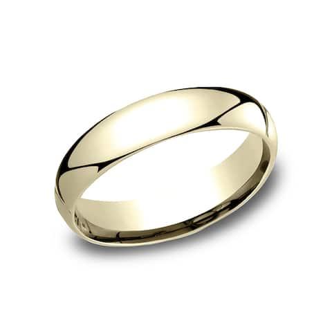 Women's 10k Yellow Gold 5mm Comfort-fit Wedding Band - 10K Yellow Gold - 10K Yellow Gold