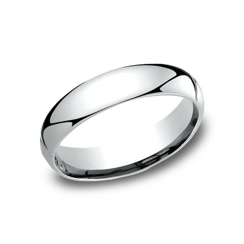 10k White Gold 5-millimeter Comfort-fit Wedding Band - 10K White Gold - 10K White Gold