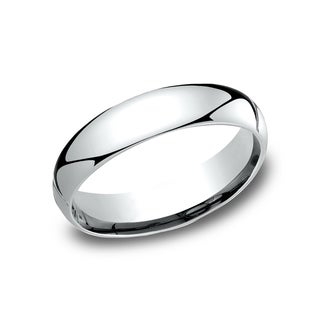 Ladies 10k White Gold 5-millimeter Comfort-fit Wedding Band