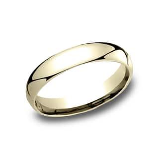 Men S 10k Yellow Gold 4 Millimeter Comfort Fit Wedding Band