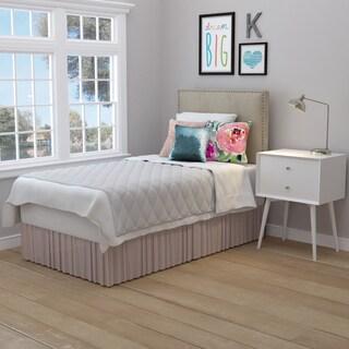 Portfolio Arabella Oatmeal Velvet Upholstered Twin Headboard