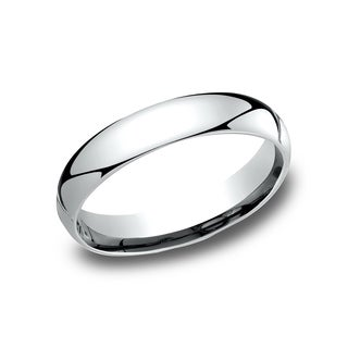 Men's 10k White Gold 4mm Comfort-fit Wedding Band
