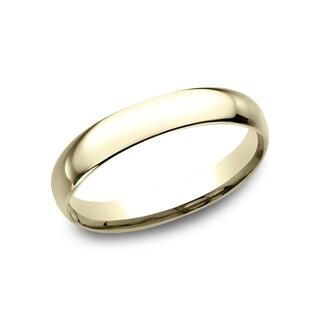 Ladies' 10k Yellow Gold 3-millimeter Comfort-fit Wedding Band