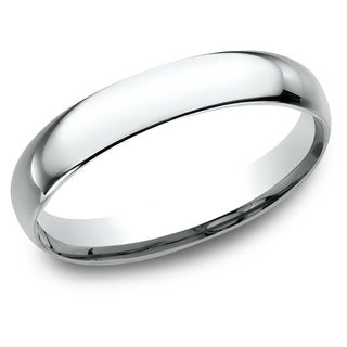 Women S 10K White Gold Comfort Fit Wedding Band 10K White Gold