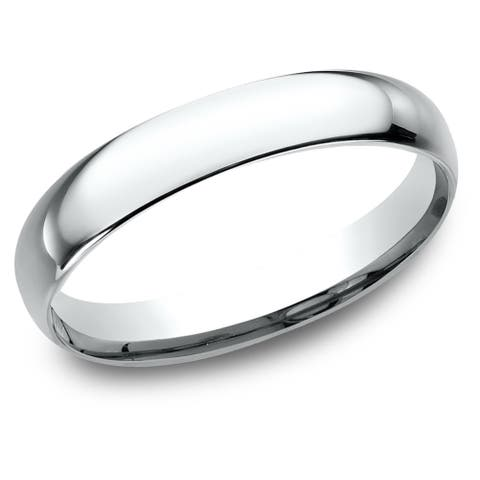 Women's 10K White Gold Comfort-fit Wedding Band - 10K White Gold - 10K White Gold