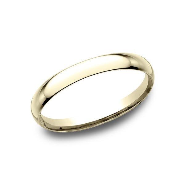 Yellow gold wedding bands 2mm leather