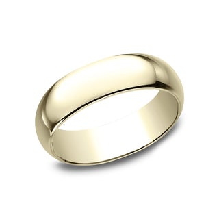 Mens 10k Yellow Gold Traditional Fit Wedding Band
